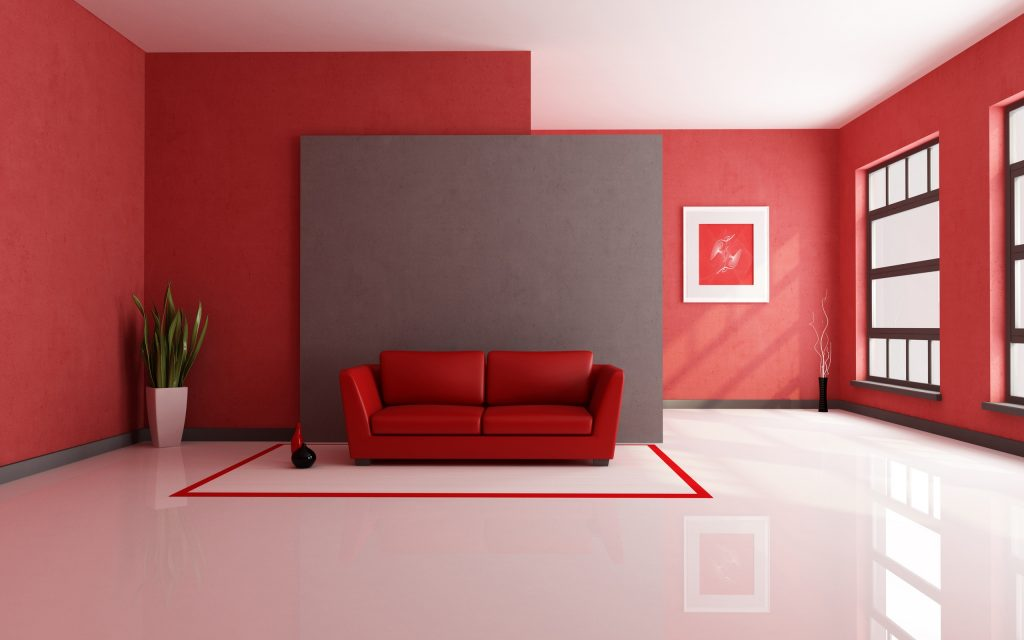 ArcSens red interior design
