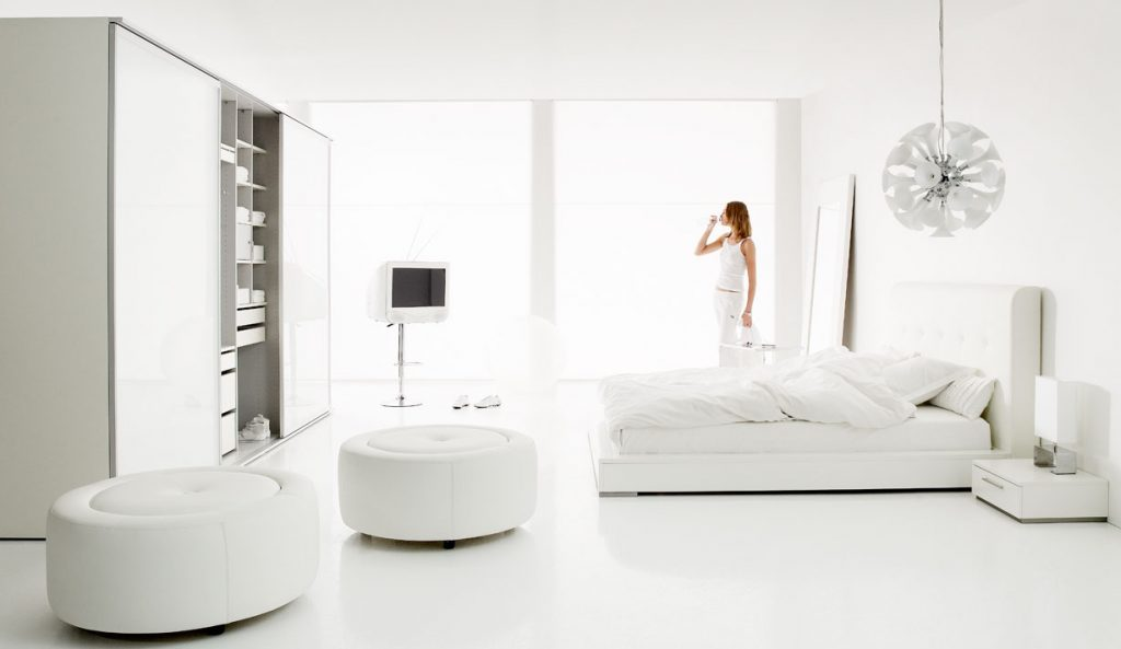 ArcSens white interior design